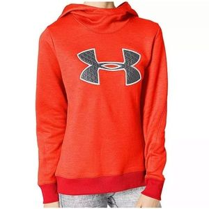 NWT Under Armour Coldgear Pullover Neon Hoodie